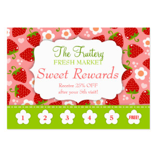 Strawberries Rewards Promo Punch Card