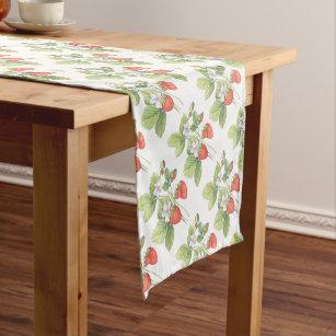 Strawberries Short Table Runner