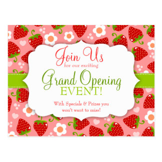Strawberries Special Event Marketing Postcard