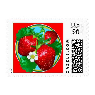 Strawberries Stamp (Sml)