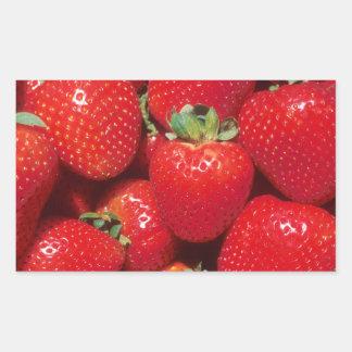 Strawberries Rectangular Sticker