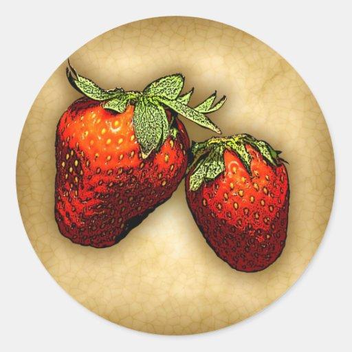 Strawberries Stickers