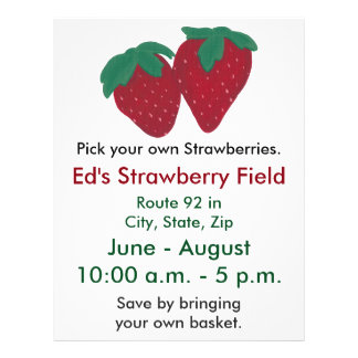 Strawberries Strawberry Farm Flyers