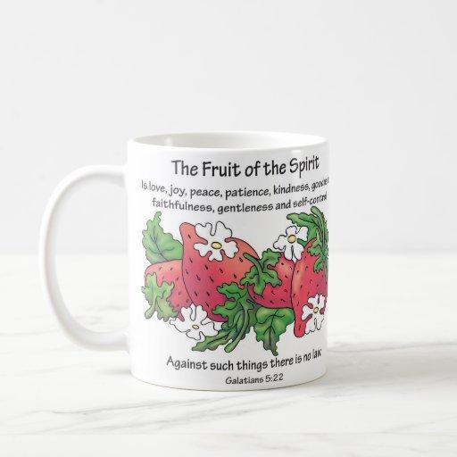 "Strawberries, ""The Fruit of the Spirit"" Coffee Mug"