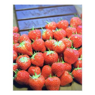Strawberries with dark Valrhona chocolate Photograph