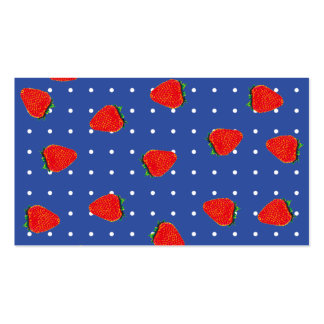 strawberries with dots business card
