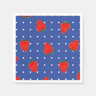 strawberries with dots napkin