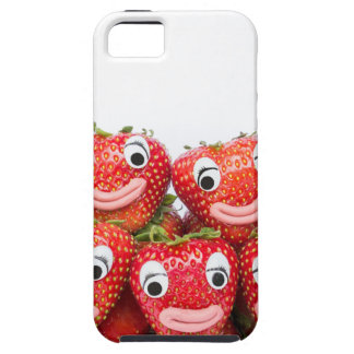 Strawberries with eyes and mouth iPhone SE/5/5s case