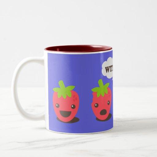 Strawberries (WTF?) Two-Tone Coffee Mug