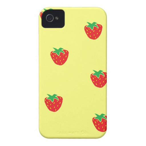 Strawberries Yellow Blackberry Bold Case