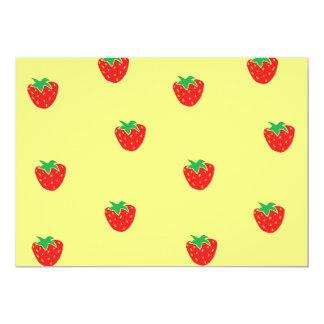 Strawberries Yellow Card