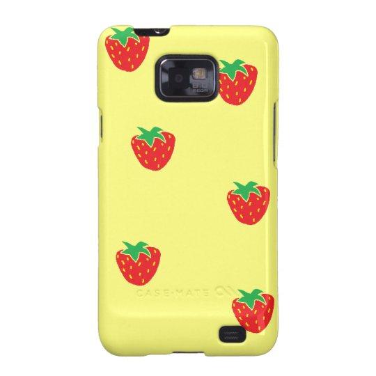 Strawberries Yellow Samsung Galaxy S Case