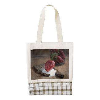 Strawberries Zazzle HEART Tote Bag