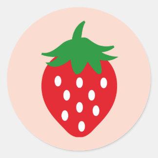 strawberry1 pegatina redonda