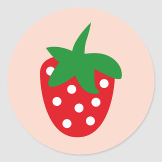 strawberry3 pegatina redonda