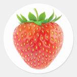Strawberry #1 classic round sticker