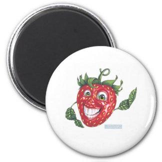 strawberry 2 inch round magnet