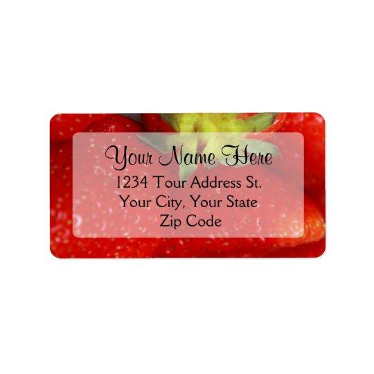 Strawberry Address Labels