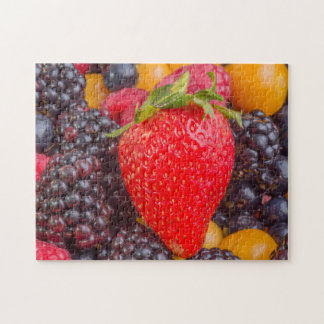 Strawberry among Mixed Berries Puzzle