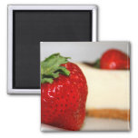 Strawberry And A Cheesecake Magnet