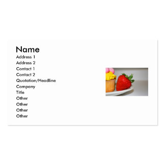 Strawberry And A Muffin Business Card