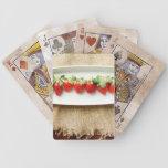 Strawberry and Burlap Card Decks