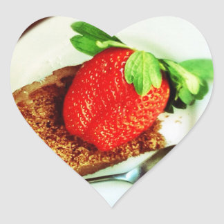 Strawberry and Cake Heart Sticker