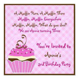 Strawberry and Chocolate Cupcake Invite