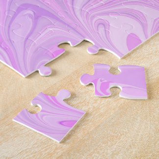Strawberry and Cream Abstract Jigsaw Puzzle