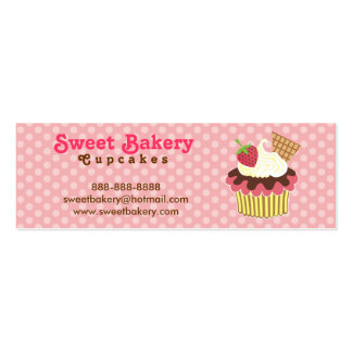 Strawberry and Cream Cupcake Mini Business Cards
