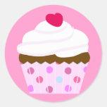 Strawberry and Cream Cupcake Stickers