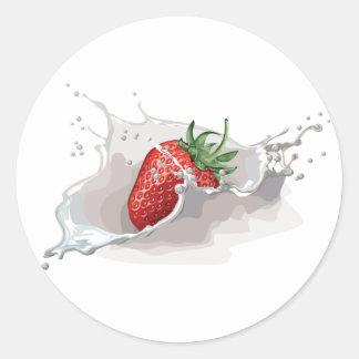 Strawberry and Cream Classic Round Sticker