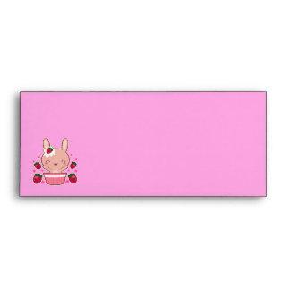 Strawberry and Cream Truffle Bunny Envelope