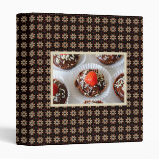 Strawberry and Dark Chocolate Mousse Dessert 3 Ring Binder