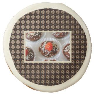 Strawberry and Dark Chocolate Mousse Dessert Sugar Cookie