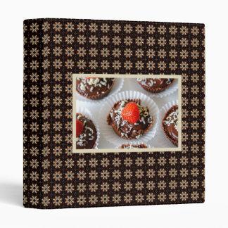 Strawberry and Dark Chocolate Mousse Dessert Vinyl Binders