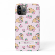 Strawberry and Guinea pig pink iPhone 11 Pro Case