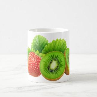 Strawberry and kiwi coffee mug