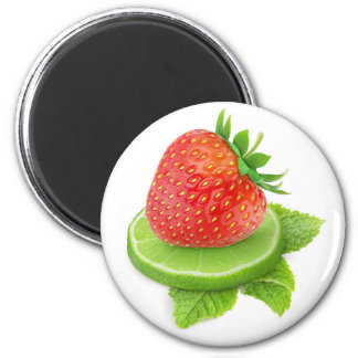Strawberry and lime magnet