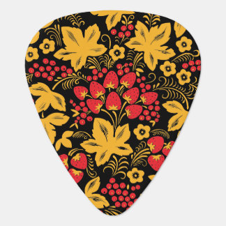 Strawberry and Maple Guitar Pick