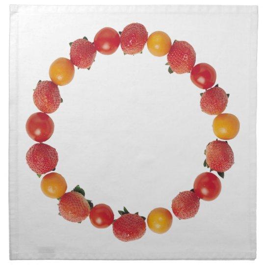 Strawberry and Tomato Napkin