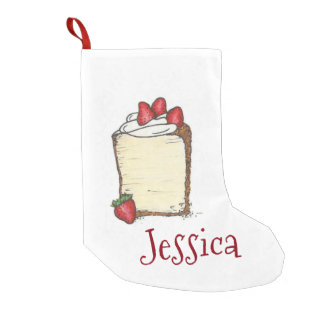 Strawberry Angel Food Cake Slice Xmas Stocking