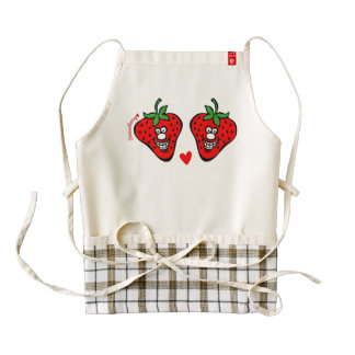 Strawberry *Apron Zazzle HEART Apron