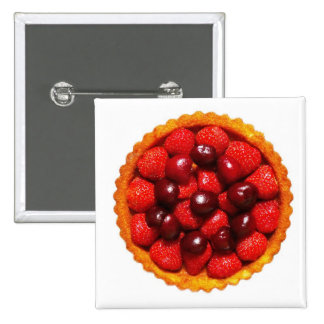 Strawberry Art Flan Pin