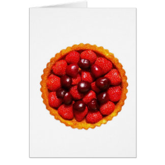 Strawberry Art Flan Card