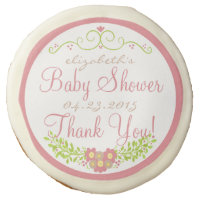 Strawberry Baby Shower - Floral Wreath Guest Favor Sugar Cookie