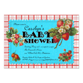 Strawberry Baby Shower Invitation