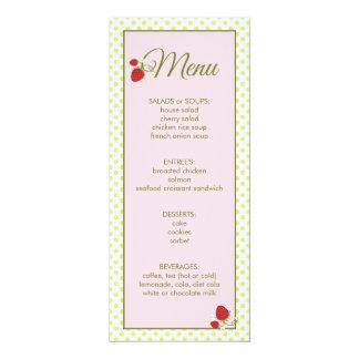 baby shower menu invitations announcements zazzle