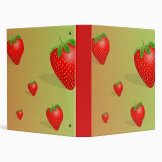 Strawberry Background Binder