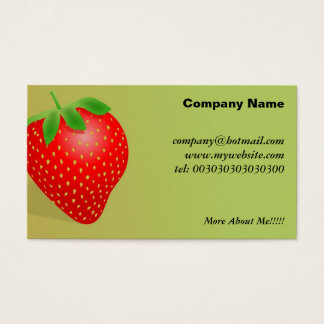 Strawberry Background Business Card